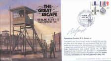 AV600 RAF Cover signed 60th Ann Great Escape STALAG LUFT WW2 WWII POW JAMES MC