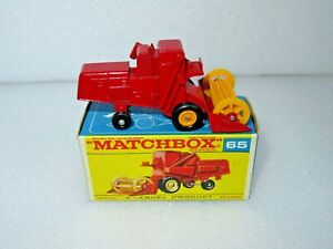 MATCHBOX LESNEY 65 CLAAS COMBINE HARVESTER. NEAR PERFECT MODEL IN EXCELLENT BOX.