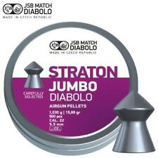 JSB Straton Jumbo Diabolo .22 Air Rifle Pellets Pointed Air Gun Ammo Tins of 500