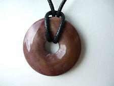 Edelsteinanhänger, Mookait, Donut, 30mm, Ketten, rund, Schmuck, Heilstein