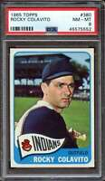 1965 TOPPS #380 ROCKY COLAVITO PSA 8 INDIANS CENTERED  *MADTH3947