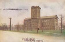 Antique Postcard c1910 Store House Rock Island Arsenal Rock Island, Il 18709