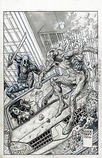 GLENN FABRY Original Cover Deadpool Vs Carnage