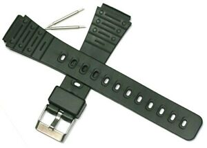 FLEXIBLE NON CRACK 18MM RESIN WATCH STRAP SUITS CASIO F91 F105 W59 + FREE PINS
