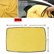 2xLarge Microfiber Drying Towel For Car Wash Cleaning Drying Cloth Rinse 92*56cm