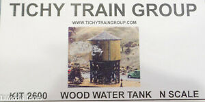 Tichy Train Group N Scale #2600 Wood Water Tower Tank