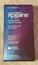 Womens Rogaine Topical Aerosol Unscented 4 Month Supply (2) 60 g ea Exp. 2019/10