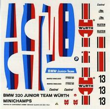 BMW 320 GR.5 N°13 JUNIOR TEAM WURTH RACE DRM 1977 MINICHAMPS DECALS 1/43