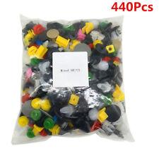 440 Pcs Mixed Plastic Auto Car Door Bumper Rivet Retainer Fastener Clip Colorful