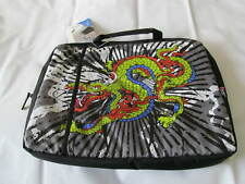 """New  Ed Hardy Laptop Case Bag Handles Embroidered logo Size 16"""" x 12"""""""