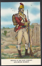 Military Postcard - Private of The Light Company 46th British Regiment   RS4175