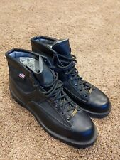 "Danner Patrol Boots 6"" Black Leather Gore-Tex Made in USA Sz 12D 25200 Pristine"