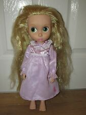 Disney Store Toddler Animator Toy Doll Tangled Rapunzel 1st Edition Glitter Hair