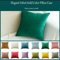 Velvet Soild Pillow Case Sofa Waist Throw Cushion Cover Home Decor Durable Home