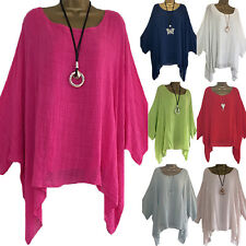 Plus Size Womens Batwing Sleeve T-Shirt Casual Oversized Baggy Top Shirts Blouse