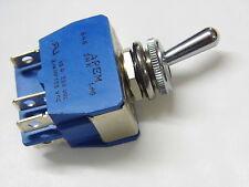 1 inverseur bipolaire APEM 15A 2RT réf: 646 SHK à cosses Fast on de 6.35mm