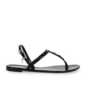 Karl Lagerfeld Jelly Karl Ikonik Black Thong Sandal  Woman