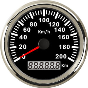 85mm Black Stainless 200KM/H GPS Speedometer for Car Truck Motorcycle Marine UTV