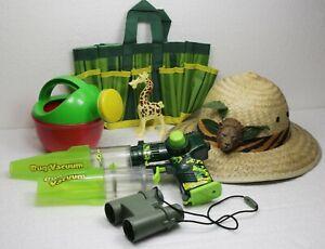 Backyard Safari Hat Bug Vacuum Magnifier Watering Can Gardening Tool Bag Toy Lot