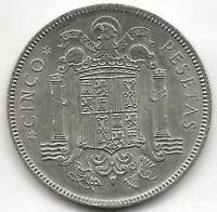 Francisco FRANCO 5 Pesetas 1949 estrella 49