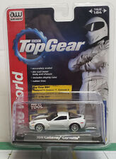 2013 Auto World BBC Top Gear 2011 Callaway Corvette White Chrome Wheels New MIP