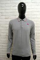 Polo Uomo KAPPA Taglia Size L Maglia Maglietta Camicia Shirt Man Cotone Grigio