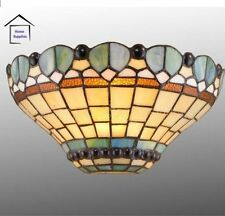 Tiffany Style Peacock Stained Glass Handcrafted Wall Light  (FAST&FREE DELIVERY)