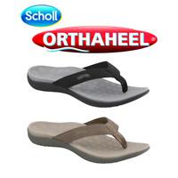 Scholl Orthaheel Wave Orthotic Sandals   Unisex   Black/Khaki   Free Post