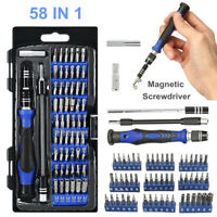 New 58 IN 1 Repair Tool Kit Precision Small Screwdriver Set 54 Bit Hand Tools