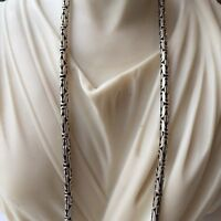 3mm Men King Byzantine Chain Pendant Necklaces 925 Sterling Silver 37GR 26Inch
