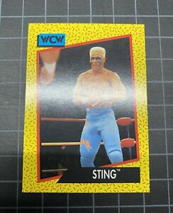 """STING """"WCW ROOKIE"""" Card RARE 1991 Impel Wrestling(Ready to grade PSA 9/10?)MINT+"""