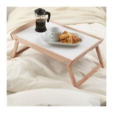 IKEA Rubberwood  Food Tea Serving Breakfast In Bed Tray Wooden Table Laptop