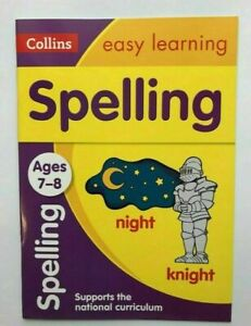 Collins Spelling Home Learning Workbook Kids Age 7-8 years New KS2