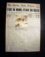 FOURMILE (Pineville) KY Bell County Kentucky Coal Mine EXPLOSION 1945 Newspaper