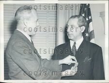 1947 US Sec of War Robert Patterson Decorates Maj Alex De Seversky Press Photo