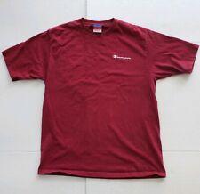 Vintage Champion Essential Crewneck T-Shirt Maroon Men's Large * Free Shipping