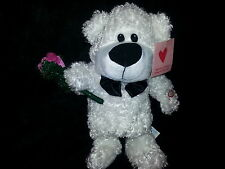 Electronic 2005 Animated Singing Valentine Boogie Oogie Woogie White Bear  New