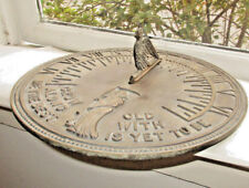 Vintage Garden Sundial Grow Old Along With Me The Best is Yet To Be Flora Fauna