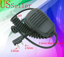 Speaker Microphone 2-Prong Connector for Kenwood Vhf Uhf Portable Two-Way Radio