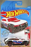 2019 Hot Wheels #196 HW Rescue 9/10 HW PURSUIT-Police White/Black w/Red Trap5 Sp