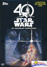 2017 Topps Star Wars 40th Anniversary EXCLUSIVE Sealed Blaster Box-MEDALLION !