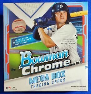 2021 Bowman Chrome Mega Box MLB Baseball 35 Cards New Factory Sealed
