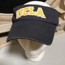 UCLA Bruins Navy Blue Visor Raw-Edges Stitched Fabric Logo Strapback Nice A27