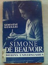 Simone de Beauvoir by Genevieve Gennari (French) 1958 edition (Ex-Library)