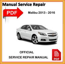 Chevrolet Malibu 2013 2014 2015 2016 Factory Service Repair Workshop Manual