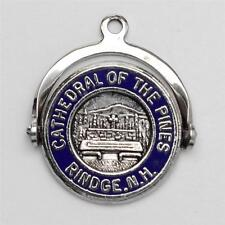 Vintage Sterling Silver Cathedral of the Pines Spinner Charm 925 2.3g Q-180