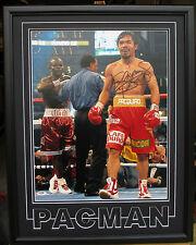 Manny Pacquiao signed 16x20 photo PSA/DNA JSA custom framed 1 of a kind RARE