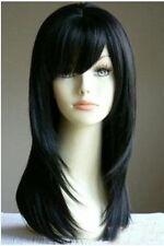 Fashionable black long women's kanekalon wig+hairnet