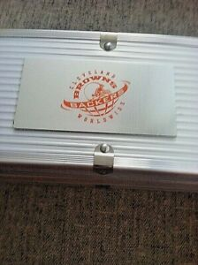 CLEVELAND BROWNS 3 PIECE BBQ GRILL SET ... BROWNSBACKER CASE..LIMITED EDITION