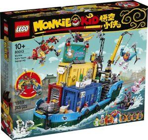 Brand New LEGO Monkie Kid 80013 Monkie Kid's Team Secret HQ@ FREE 40474